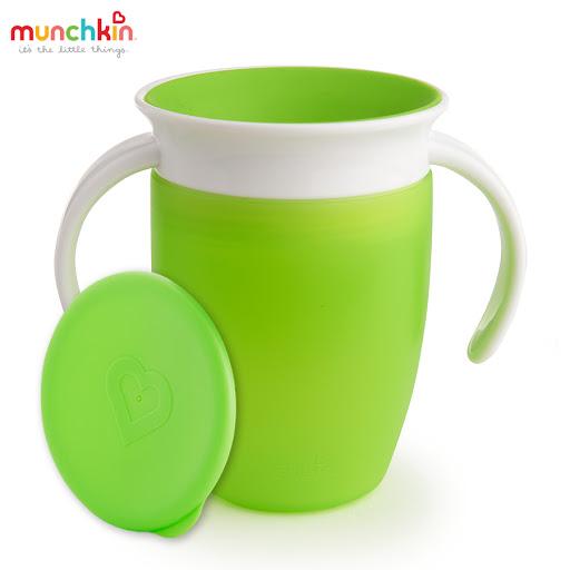 Cốc tập uống 360 độ Munchkin có nắp 207ml (Xanh lá) MK51856_2