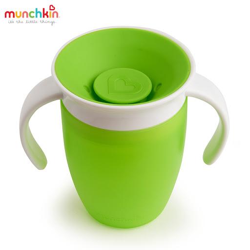Cốc tập uống 360 độ Munchkin có nắp 207ml (Xanh lá) MK51856_3