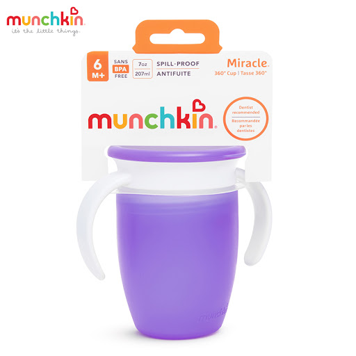 Cốc tập uống 360 độ Munchkin có nắp (Tím) MK51857_1