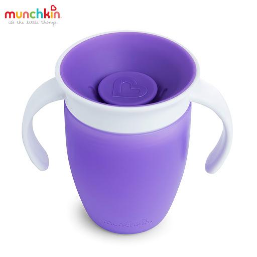 Cốc tập uống 360 độ Munchkin có nắp (Tím) MK51857_2