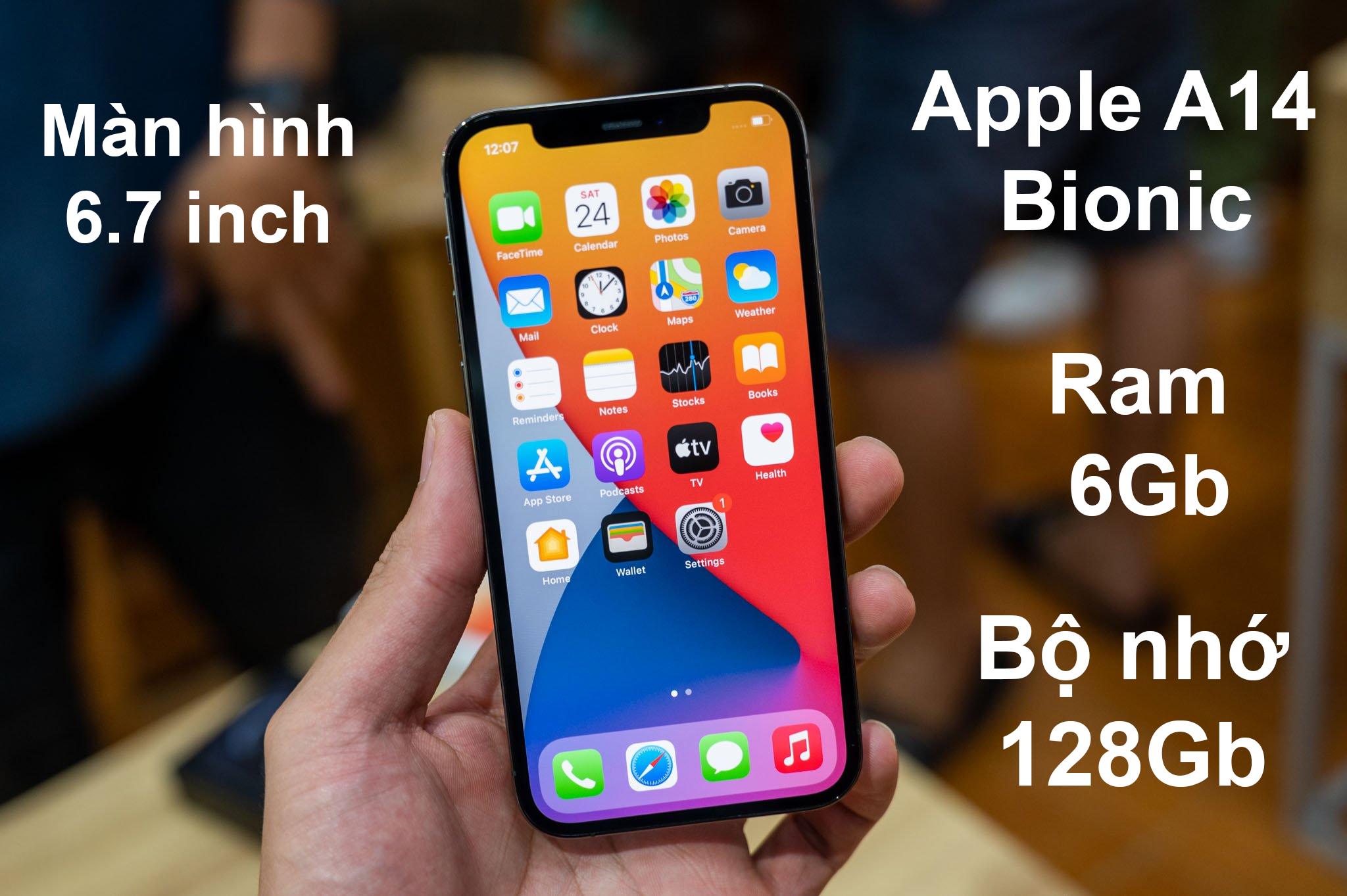 iPhone 12 Pro Max 128 GB | Màn hình Super Retina XDR 6.7 inch sắc nét, hiệu năng mạnh mẽ