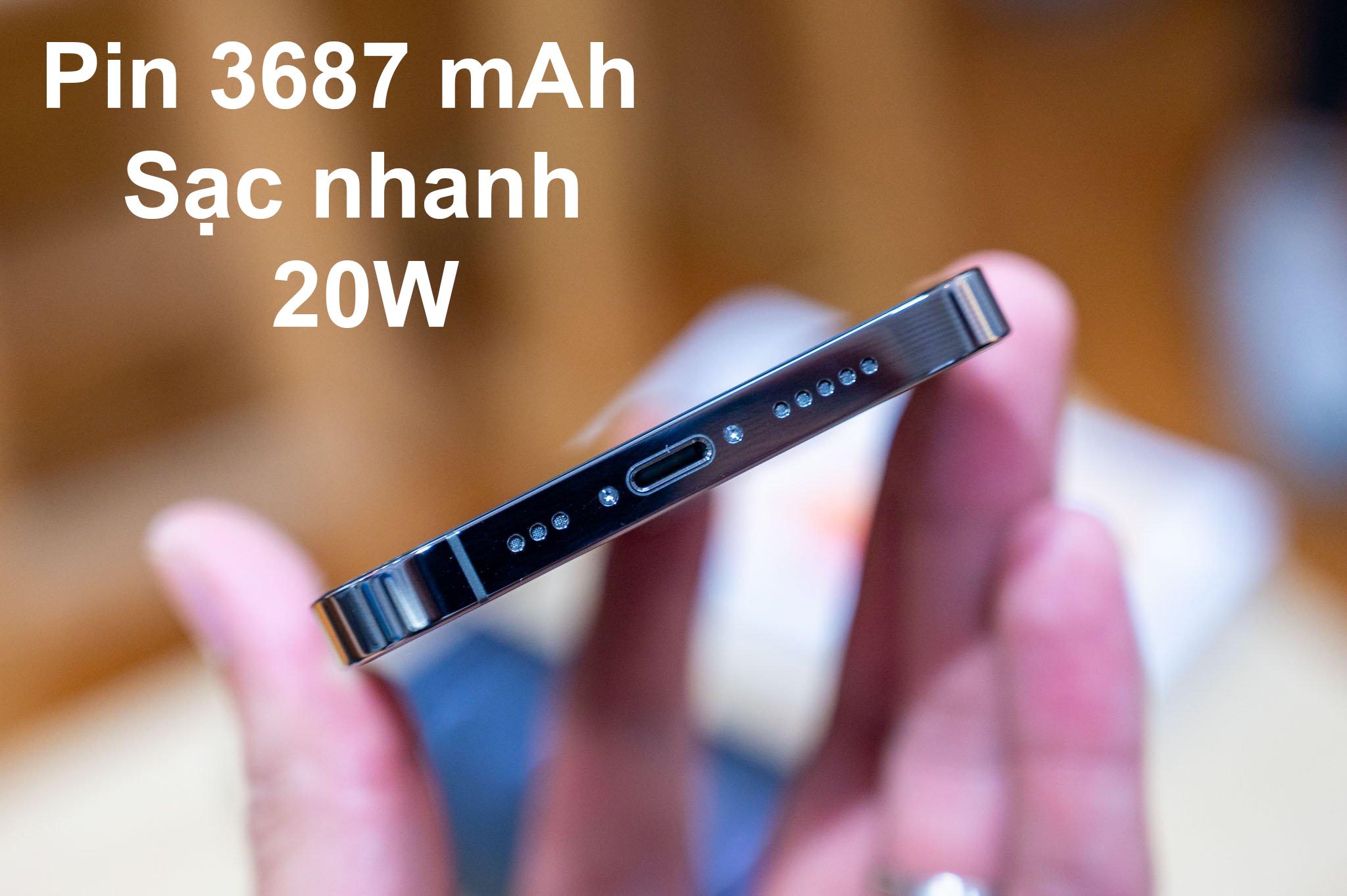 iPhone 12 Pro Max 128 GB | Pin dung lượng 3687mAh sạc nhanh 20W