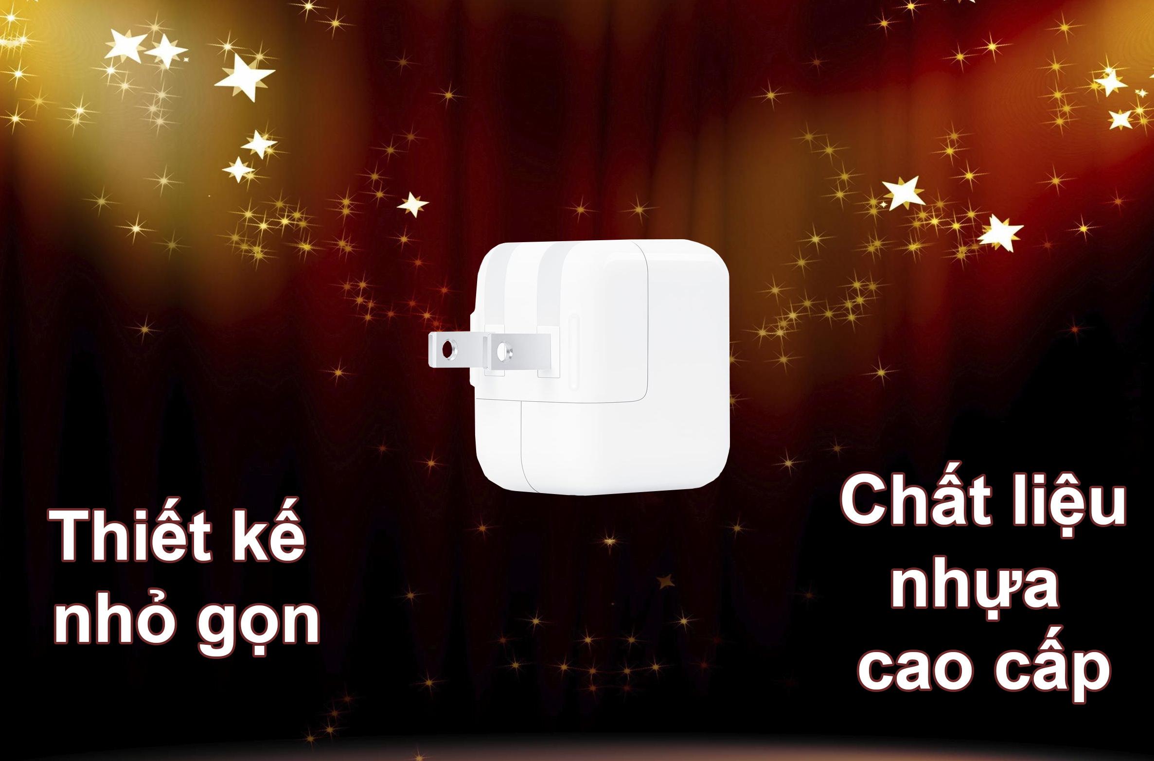 Apple 12W USB Power | Thiết kế nhỏ gọn, chất liệu nhựa cao cấp
