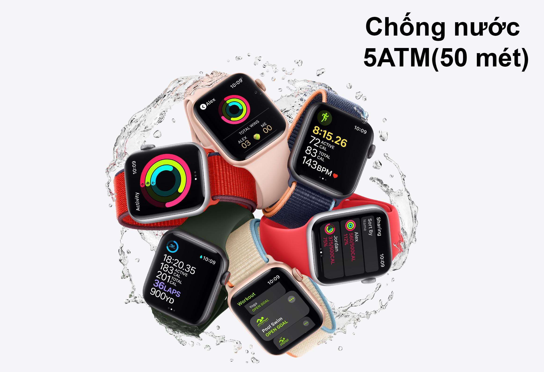 Apple Watch Series SE GPS + 4G 44mm | Chống nước 5ATM
