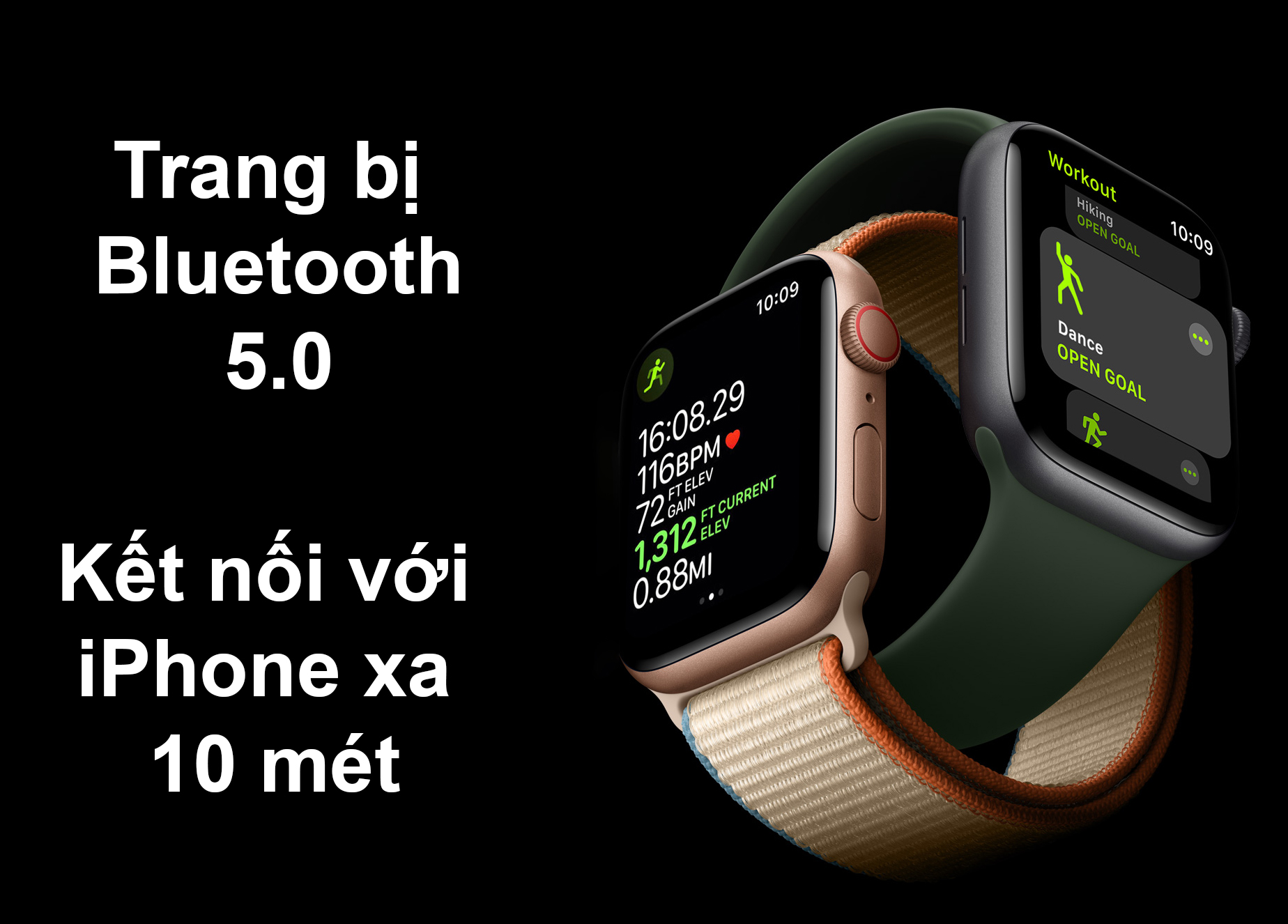 Apple Watch Series 6 GPS 44mm | Trang bị Bluetooth 5.0