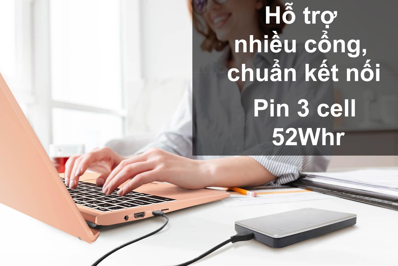 Laptop MSI Modern 14 B11SB-075VN màu Vàng Hồng | Trang bị nhiều cổng kết nối | Pin 3 cell