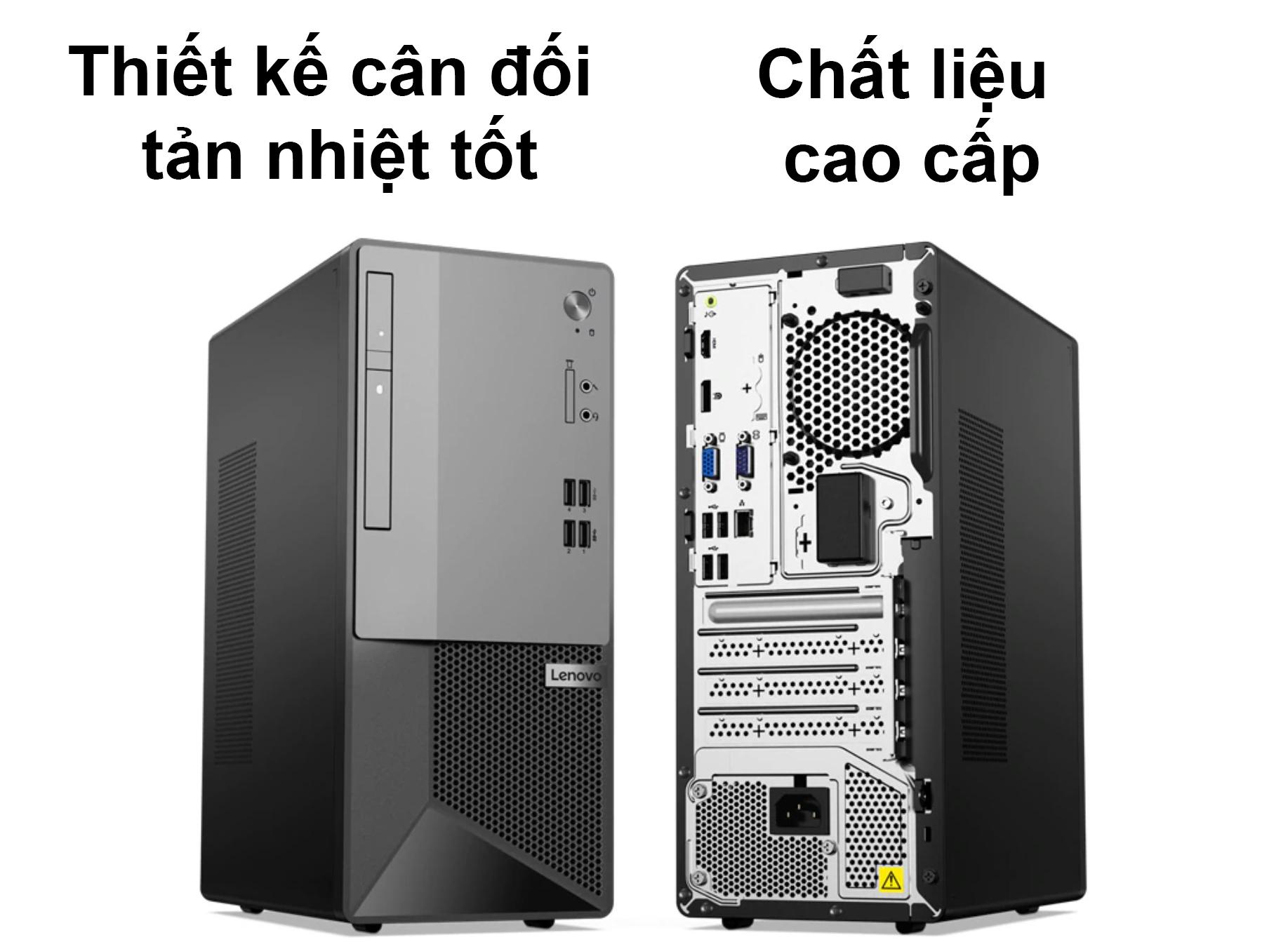 PC Lenovo V50t 13IMB | Thiết kế cân đôi, tản nhiệt cao cấp