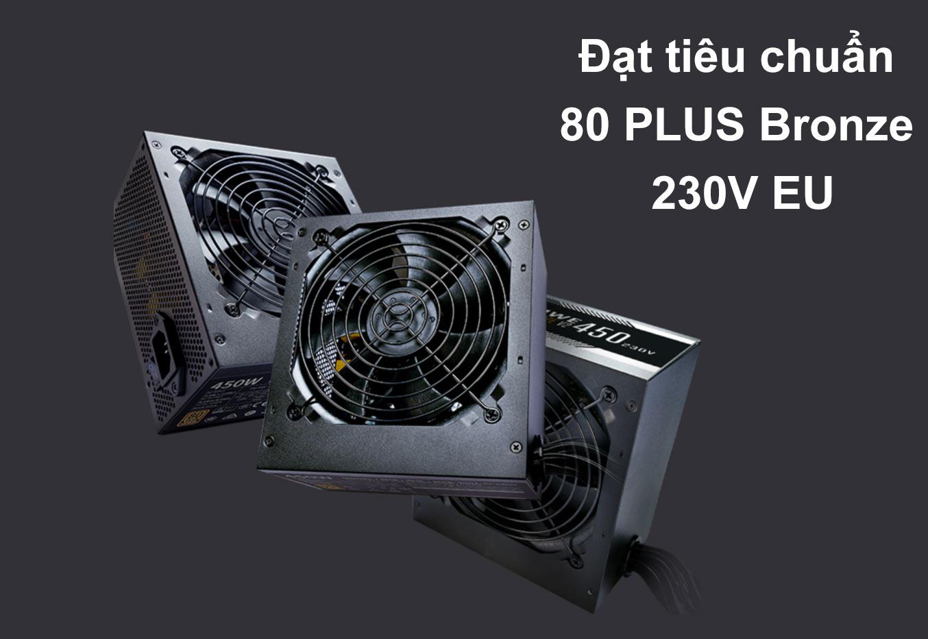 bộ nguồn Power CM MWE Bronze 450W V2 230V | Đạt tiêu chuẩn 80 Plus Bronze 230V EU