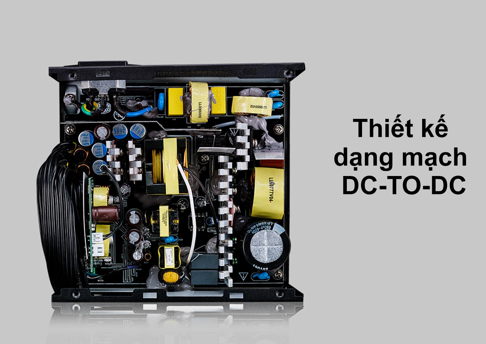 Bộ nguồn Power CM MWE Bronze 500W V2 230V | Thiết kế dạng mạch DC To DC