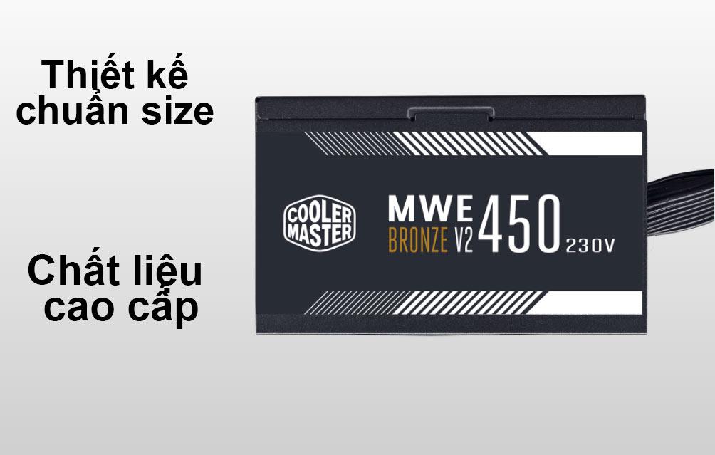 Bộ nguồn Power CM MWE Bronze 450W V2 230V | Thiết kế chuẩn Size