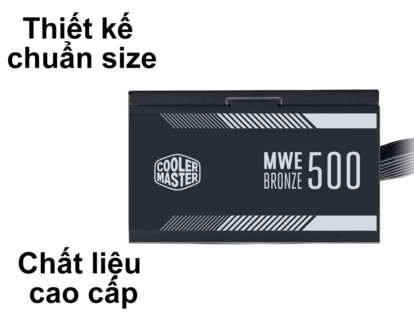 Bộ nguồn Power CM MWE Bronze 500W V2 230V | Thiết kế chuẩn Size