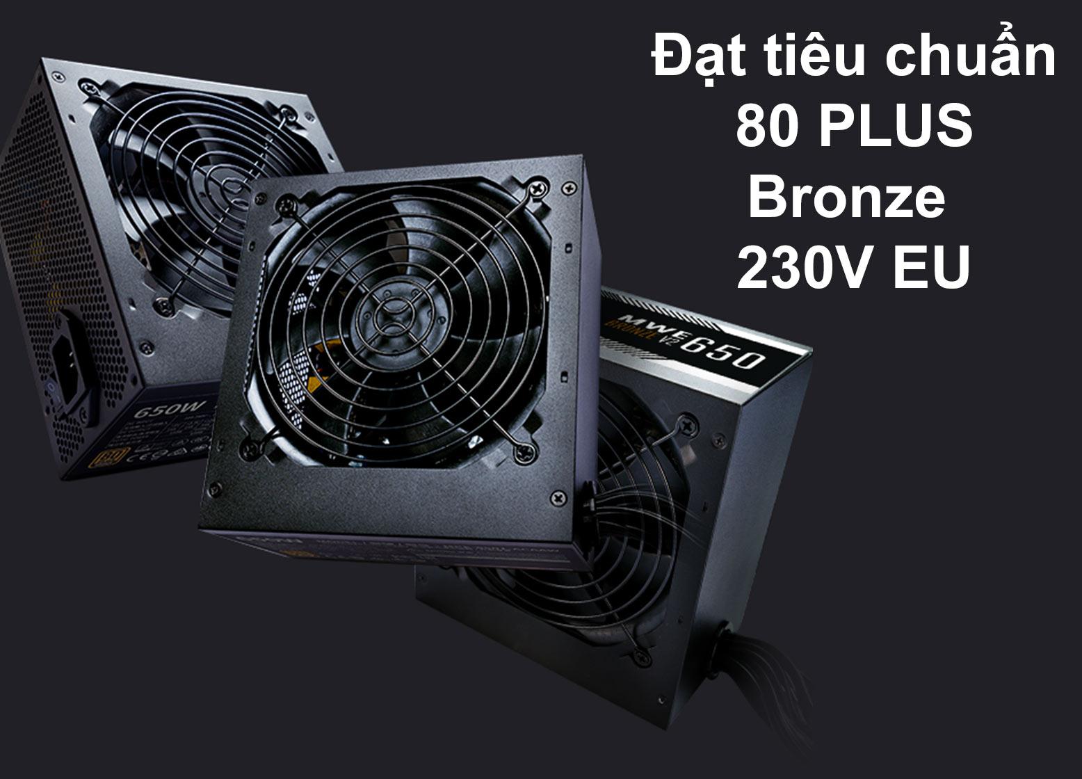 Bộ nguồn Power CM MWE Bronze 650W V2 230V   Đạt tiêu chuẩn 80 Plus