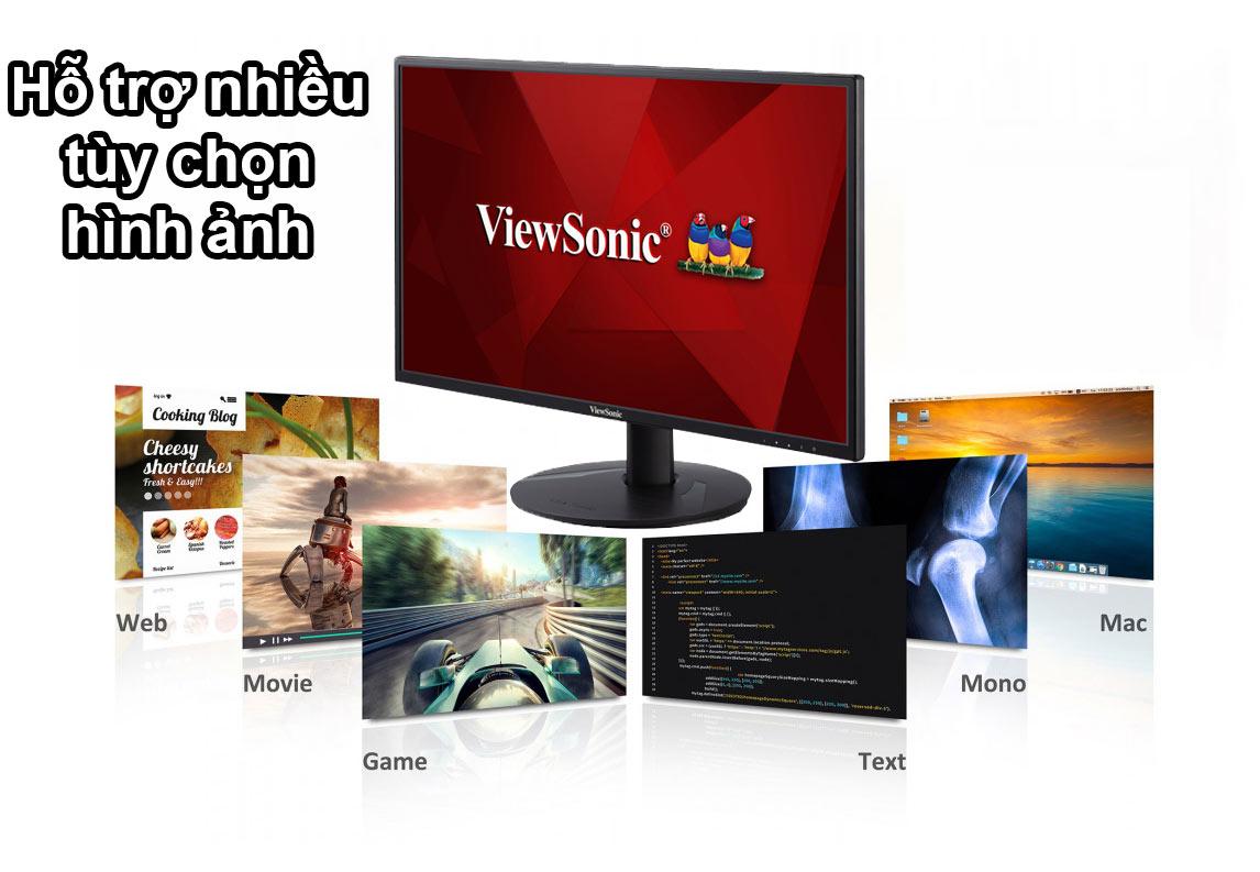 Màn hình LCD 24 inch ViewSonic VA2418-SH   Tùy chọn nhiều chế độ hình ảnh