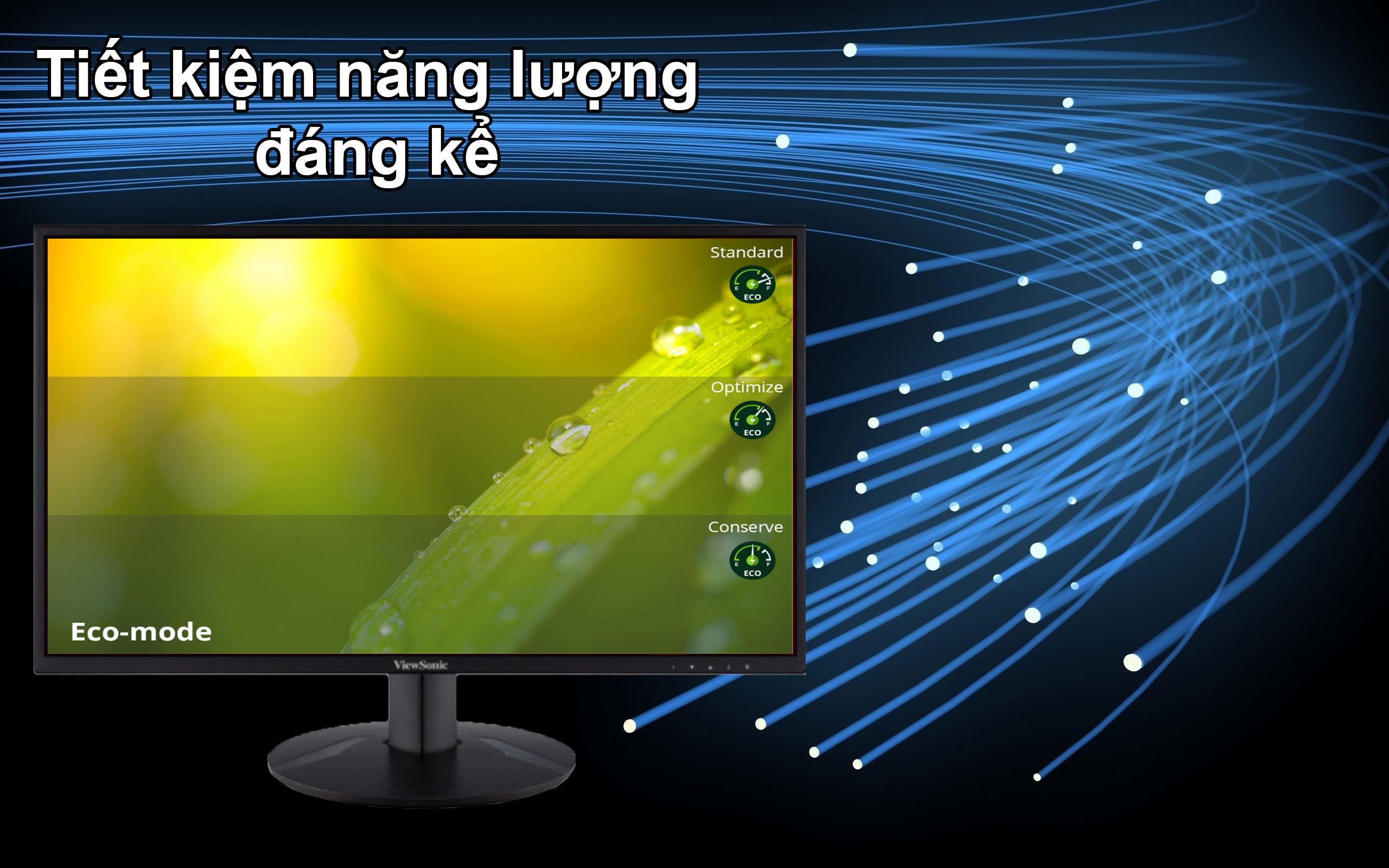 Màn hình LCD 24 inch ViewSonic VA2418-SH   Tiết kiệm điện năng đáng kể
