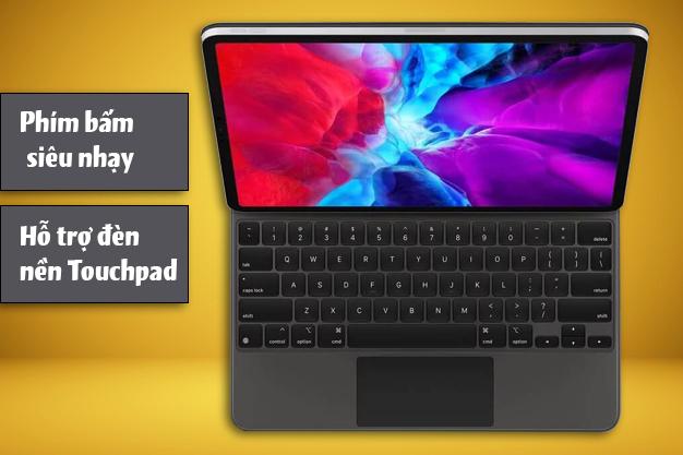 Apple Magic Keyboard iPad Pro 12.9 inch | Phím bấm siêu nhạy hỗ trợ đèn nền