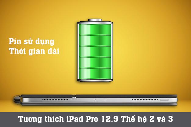 Apple Magic Keyboard iPad Pro 12.9 inch | Pin sử dụng thời gian dài tương thích nhiều thiết bị