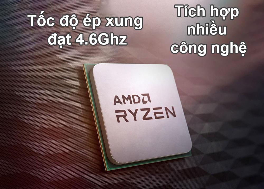 CPU AMD Ryzen 5 5600X | tốc độ ép xung đạt 4.6ghz