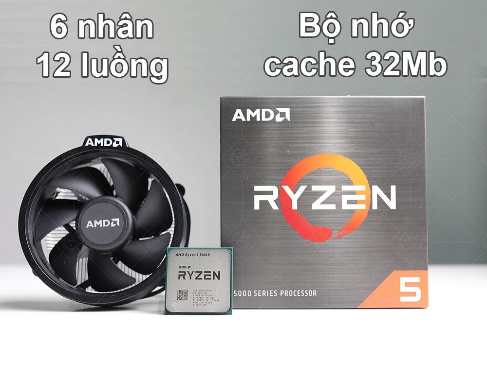CPU AMD Ryzen 5 5600X | 6 nhân 12 luồng