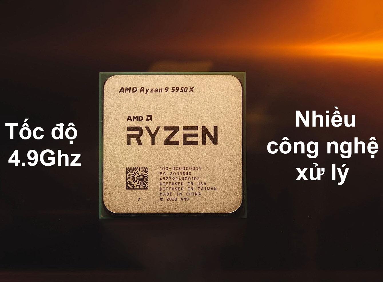 CPU AMD Ryzen 9 5950X | Tốc độ 4.9Ghz