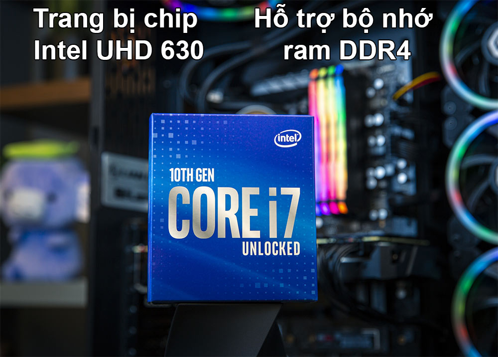 CPU Intel Comet Lake Core i7-10700 | Trang bị Intel UHD 630