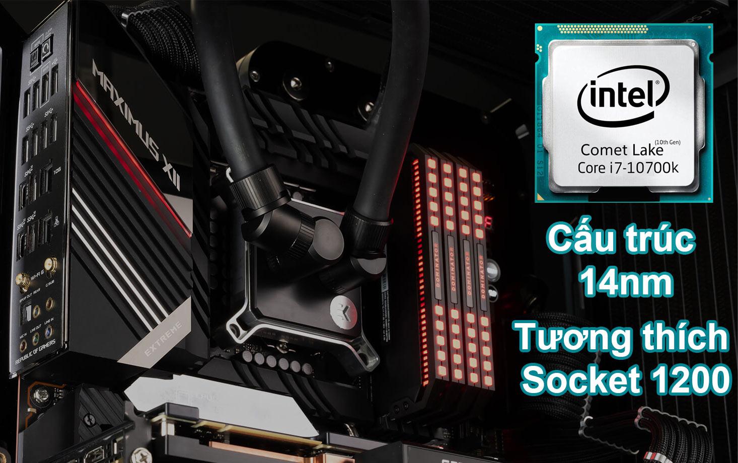 CPU Intel Comet Lake Core i7-10700K | Cấu trúc 14nm, tương thích Socket 1200