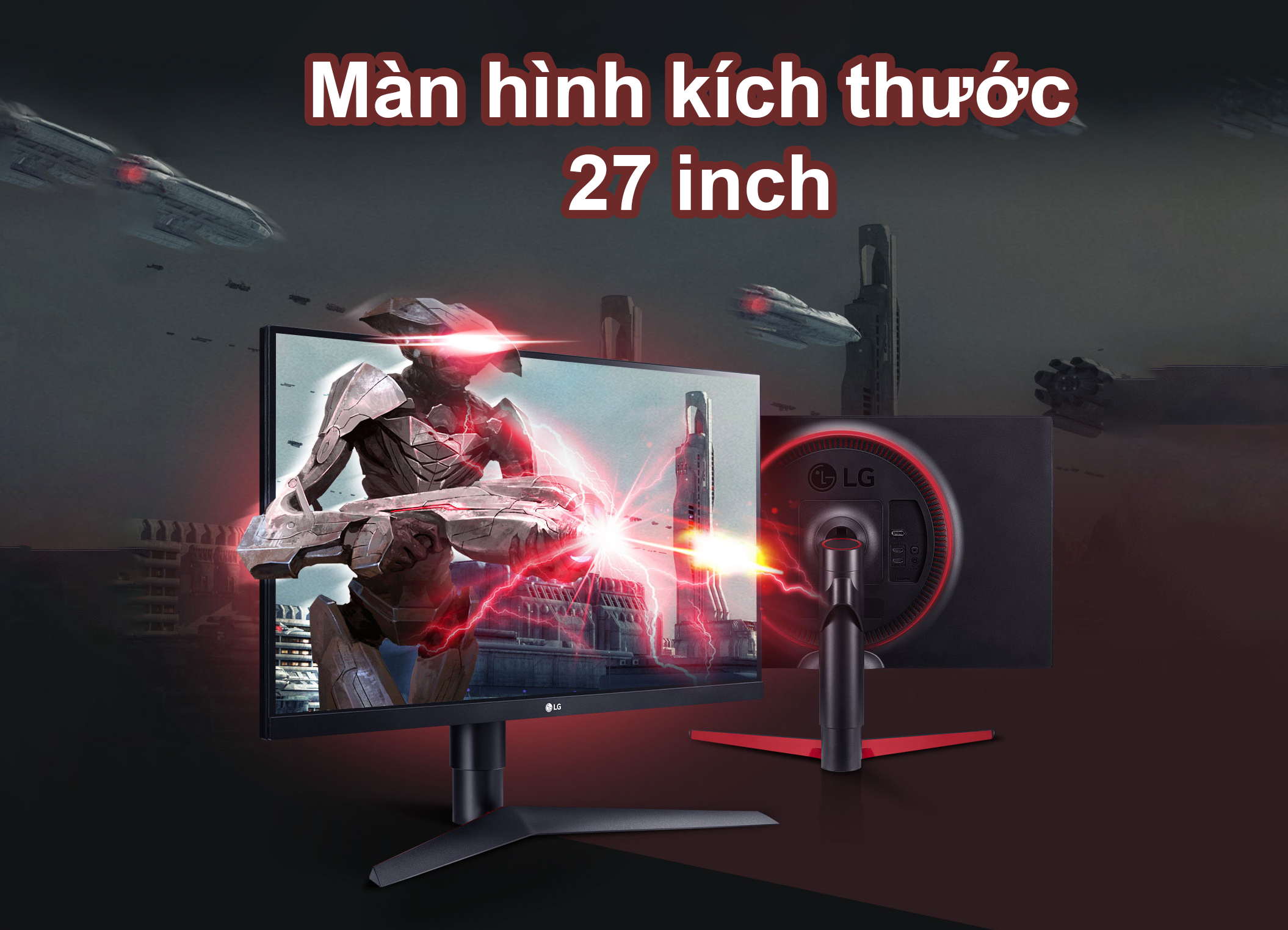 LG 27 inch 27GL650F-B.ATV | màn hình kích thước 27 inch