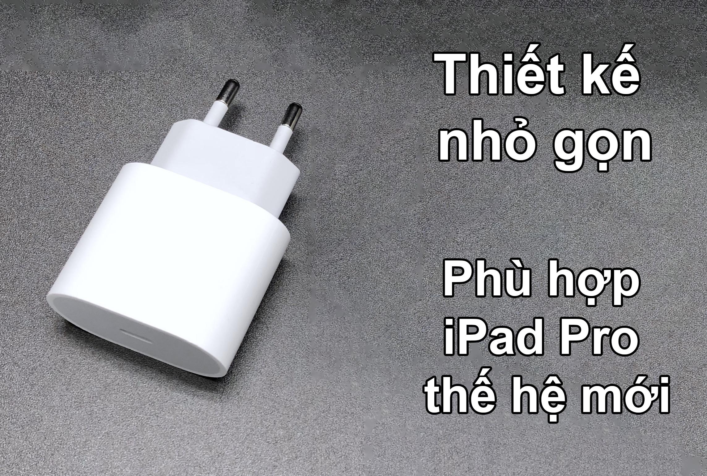 Sạc Apple 18W USB-C Power Adapter-ITS | Thiết kế nhỏ gọn, Phù hợp iPad Pro