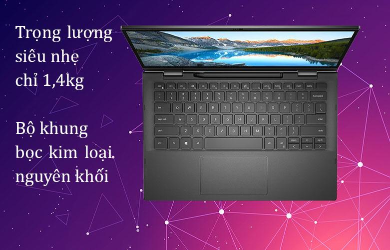 Laptop Dell Inspiron 7306 (7306-N3I5202W)   Trọng lương nhẹ chỉ 1.4 Kg, Bộ khung kim loại nguyên khối