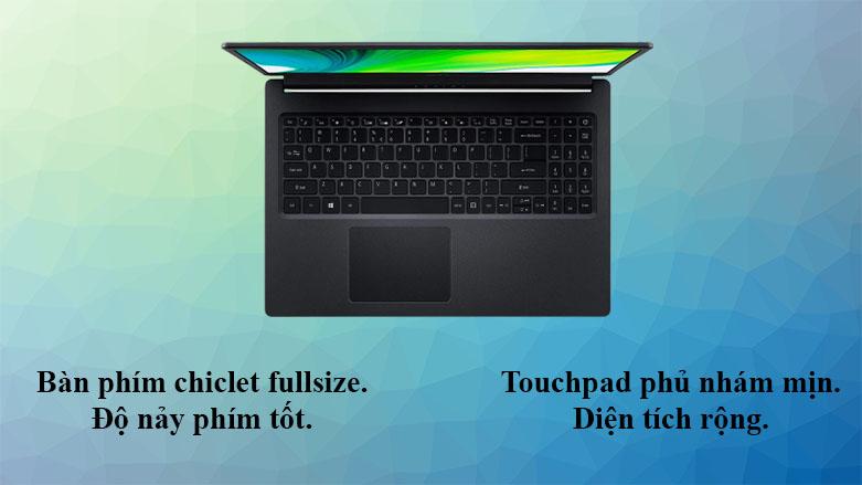 Laptop Acer Aspire 3 A315-57G-31YD | Bàn phím chiclet tiêu chuẩn, touchpad phủ lớp nhám mịn