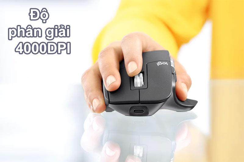 Chuột không dây Logitech MX Master 3 (Đen)| Độ phân giải 4000DPI