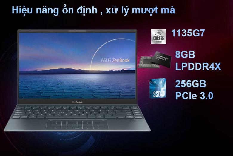 Laptop Asus Zenbook UX325EA-EG079T | Intel Core i5 1135G7, RAM LPDDR4X 4266 MHz, SSD 256GB PCIe 3.0