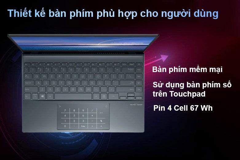 Laptop Asus Zenbook UX325EA-EG079T | Màn phím mềm mại, Pin 3 Cell 67 Wh