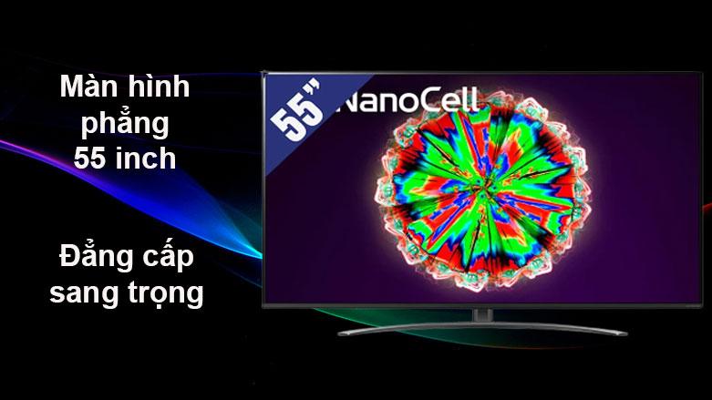 Smart Tivi NanoCell LG 4K 55 inch 55NANO81TNA | Màn hình phẳng 55 inch
