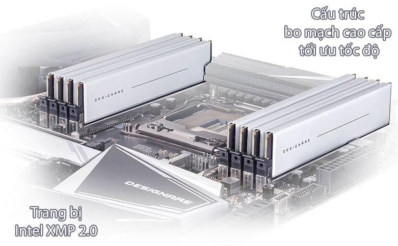 Bộ nhớ Ram Gigabyte Designare 64GB (2x32GB) DDR4 3200 | Intel XMP 2.0 | Cấu trúc bo mạch cao cấp