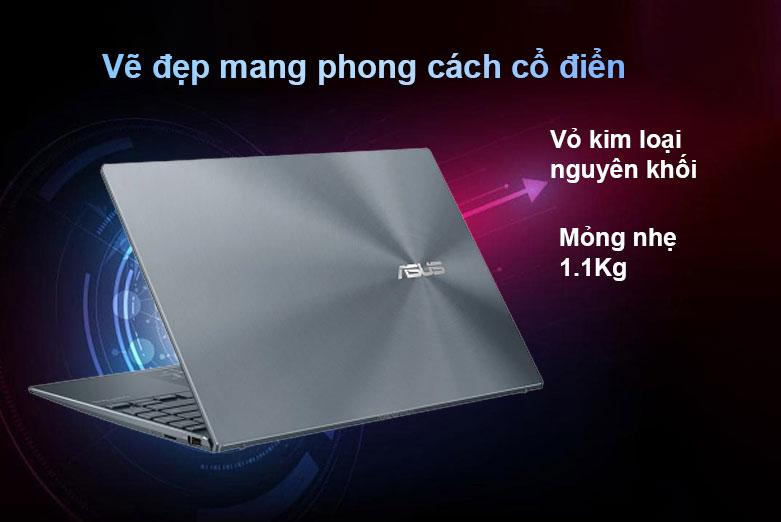 Laptop Asus Zenbook UX325EA-EG079T | Vỏ kim loại nguyên khối, Mỏng nhẹ 1.1 lg