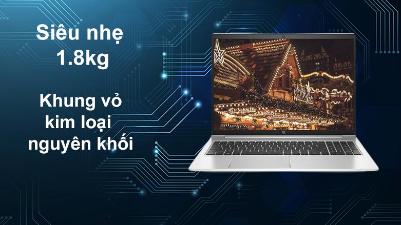 Laptop HP ProBook 450 G8-2H0W1PA | Siêu nhẹ 1.8 Kg, Khung kim loại nguyên khối