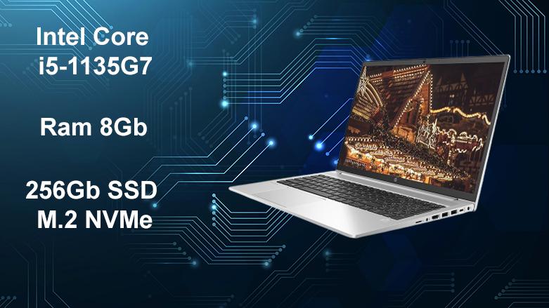 Laptop HP ProBook 450 G8-2H0W1PA | Intel Core i5-1135G7, ram 8Gb, bộ nhớ trong 256Gb SSD M.2 NVMe