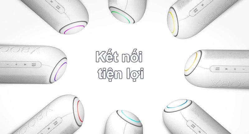 Loa Bluetooth LG PL7W (Trắng) | Kết nối tiện lợi