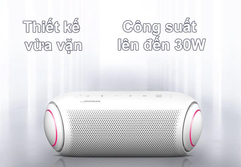 Loa Bluetooth LG PL7W (Trắng) | Thiết kế vừa vặn, công suất 30W