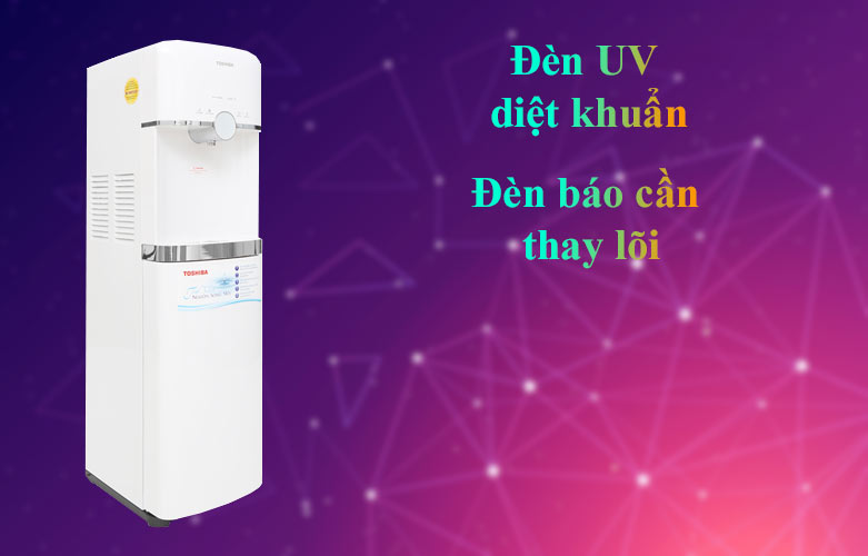 Máy lọc nước nóng lạnh Toshiba TWP-W1643SV(W)   Diệt khuẩn bằng đèn UV