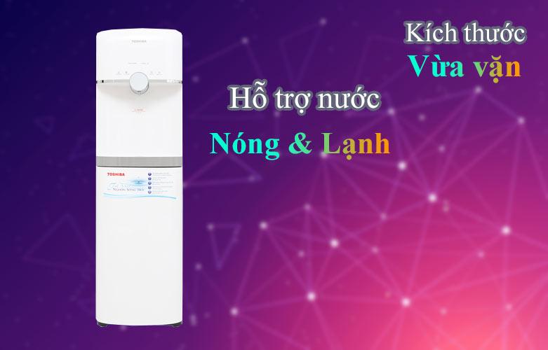Máy lọc nước nóng lạnh Toshiba TWP-W1643SV(W)   Hỗ trợ nước nóng và lạnh