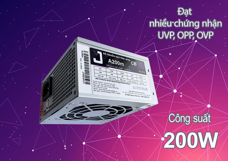 Nguồn/ Power Jetek 200W A200m   Công suất 200W   Đạt nhiều chứng nhận an toàn