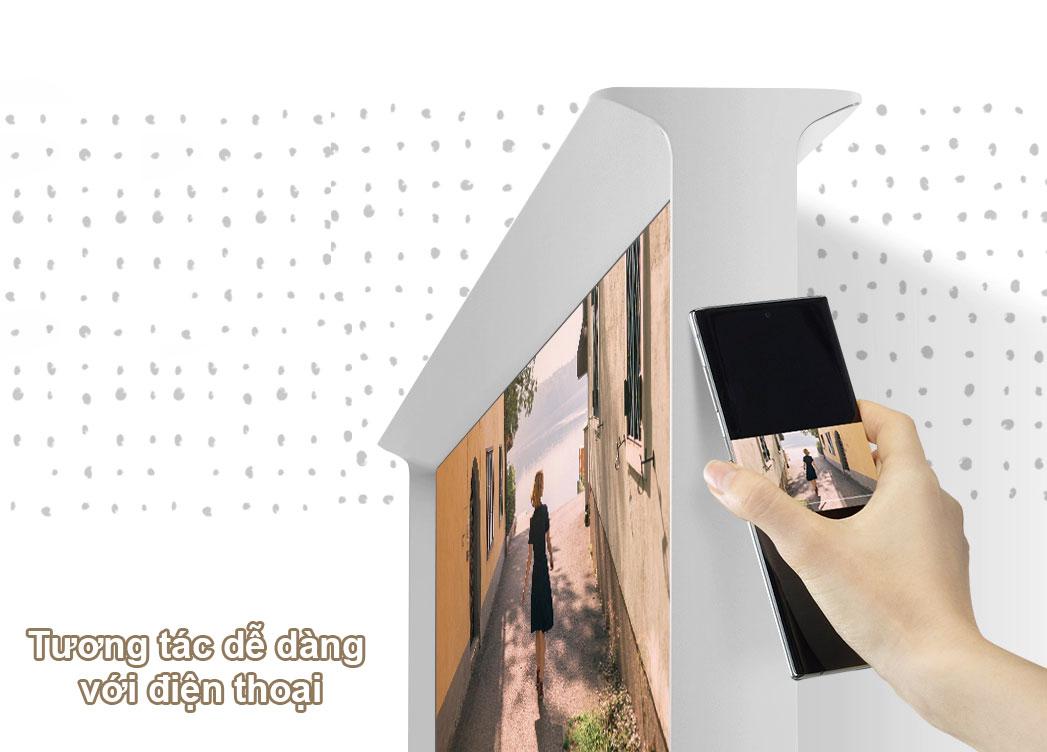 Tivi Qled The Frame Samsung 4K 55 inch QA55LS01T | Tương tác dễ dnagf với điện thoại