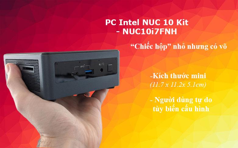 PC Intel NUC 10 Kit - NUC10i7FNH2 | Thiết kế nhỏ gọn