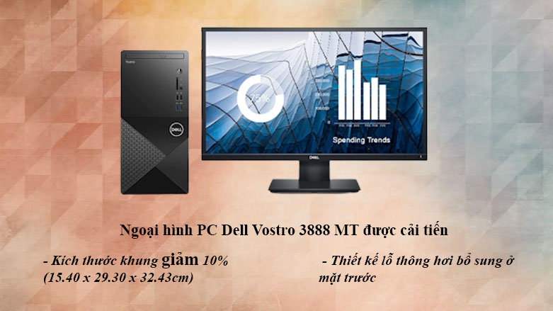 PC Dell Vostro 3888 MT | Ngoại hình được cải tiến