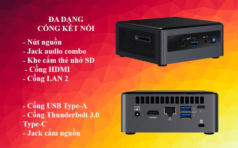 PC Intel NUC 10 Kit - NUC10i7FNH2 | Đa dạng cổng kết nối