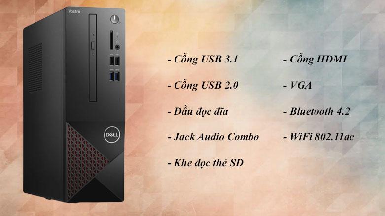 PC Dell Vostro 3888 MT | Công kết nối đa dạng