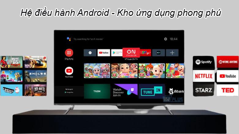 Android Tivi Casper 50 inch 50UG6100 | Hệ điều hành Android, Kho ứng dụng phong phú