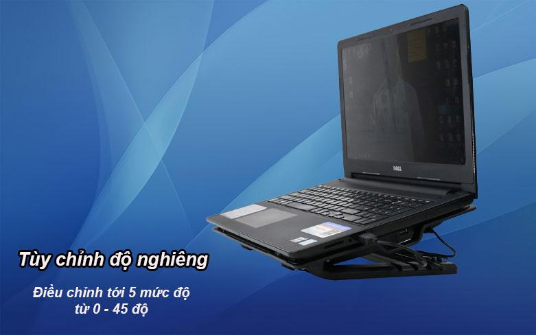 Fan laptop N99 (2 Fan) | Tùy chỉnh độ nghiêng