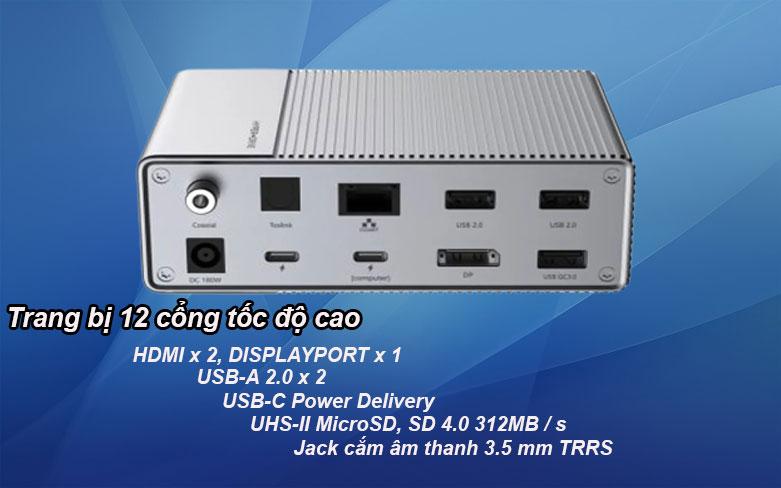 Hub USB-C Gen 2 12 in 1 Hyper Drive HD-G212 | Trang bị 12 cổng tốc độ cao